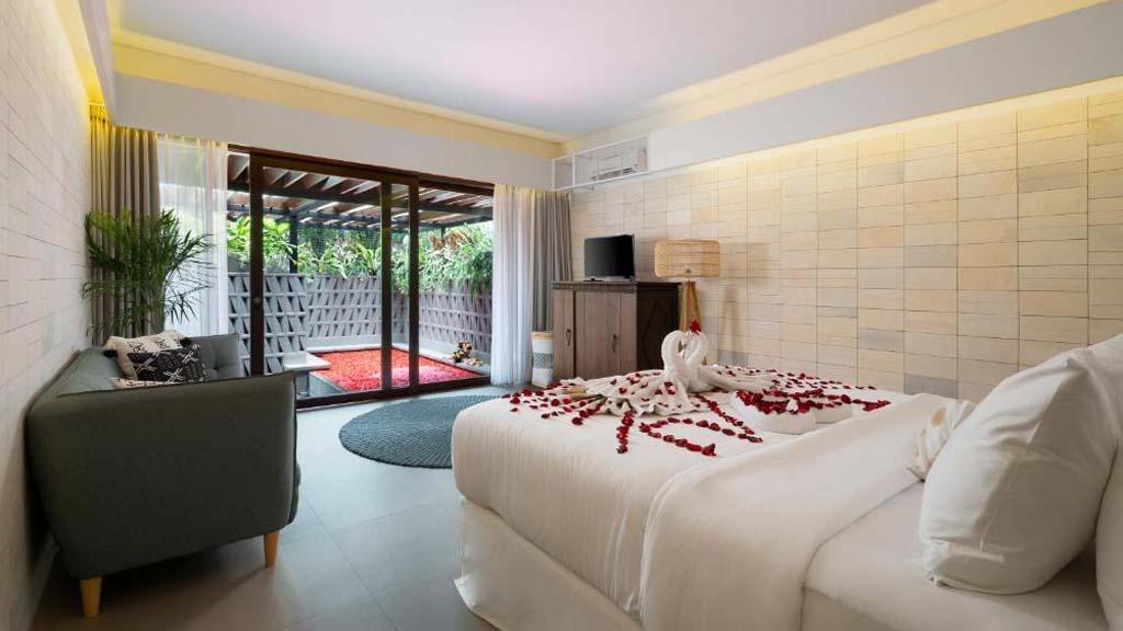 Kemilau Zimmer und Pool - Reiseathleten Fitnessurlaub auf Bali