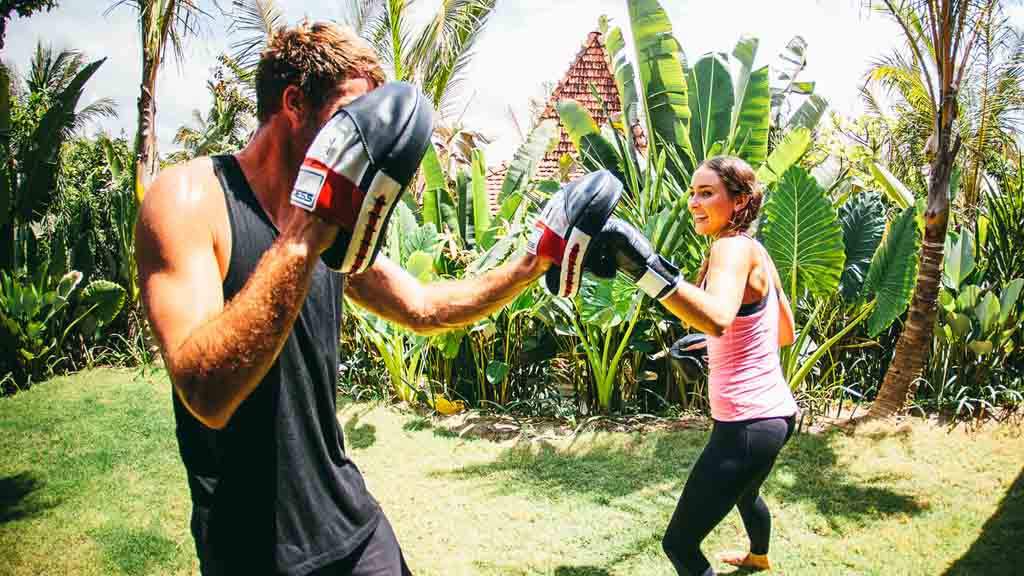Boxing Fitness Kurs - Personal Training im Urlaub - Fitnessurlaub auf Bali für Reiseathleten