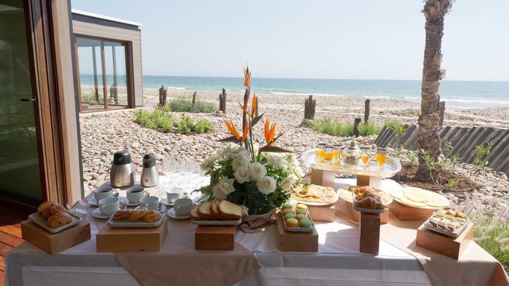 Frühstück im Paradis Plage Surf Yoga & Spa Resort - Fitnessurlaub mit Reiseathleten - Marokko Plage