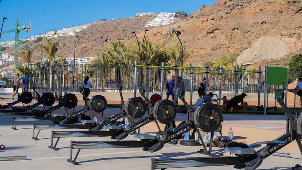 Crossfit Riders Outdoor Fitness Bereich - CrossFit Urlaub Gran Canaria - Fitnessurlaub für Reiseathleten auf Gran Canaria