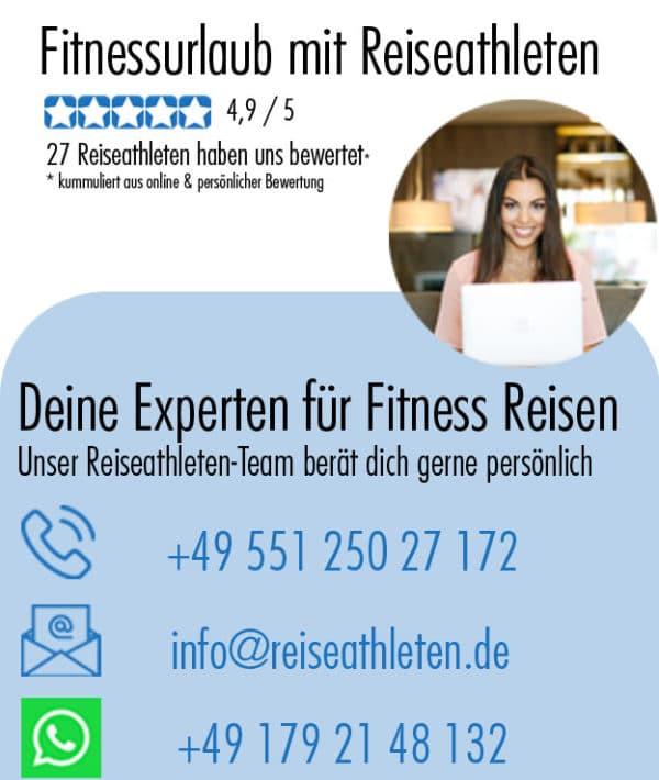 Fitnessurlaub für Reiseathleten - Fitness Reisen Kontakt