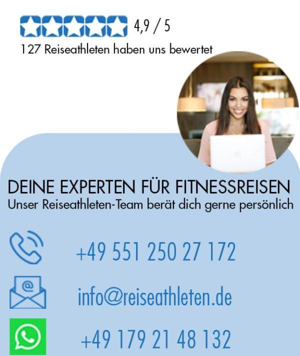 Bewertungen bis Aug 2020 - Kontak Reiseathleten - Fitnessurlaub für Reiseathleten
