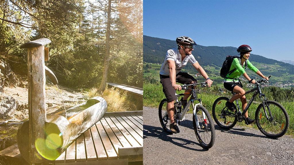 Fitnessurlaub in Österreich - Mountainbiking mit Bergsicht Hotel 4 Jahreszeiten Pitztal - Fitnessreisen für Reiseathleten