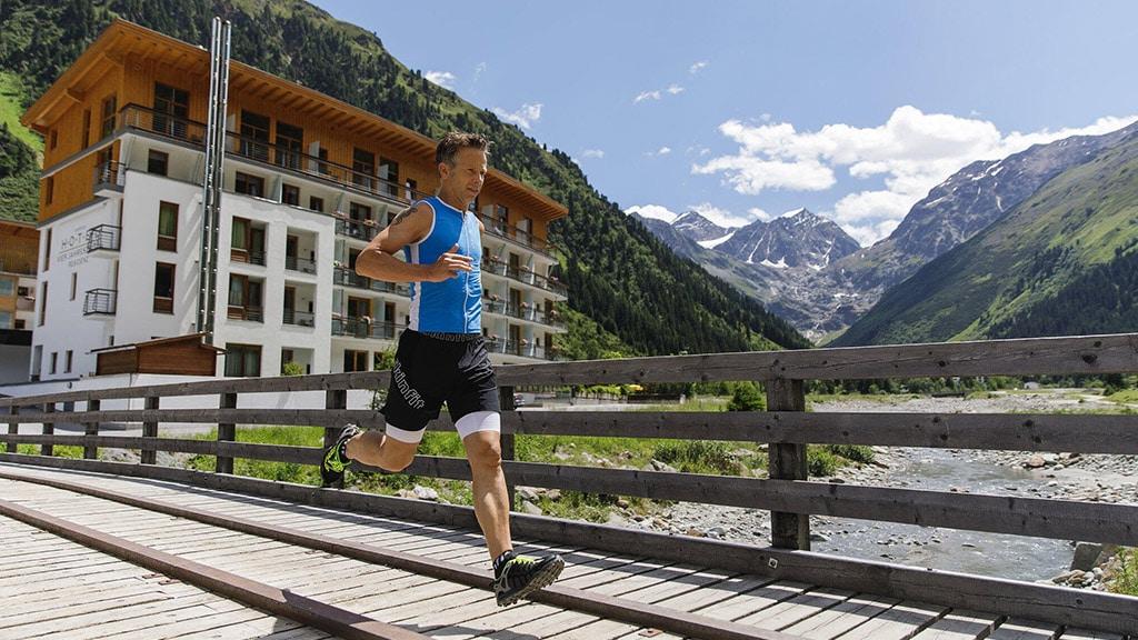 Fitnessurlaub in Österreich - Team Laufen Hotel 4 Jahreszeiten Pitztal - Fitnessreisen für Reiseathleten