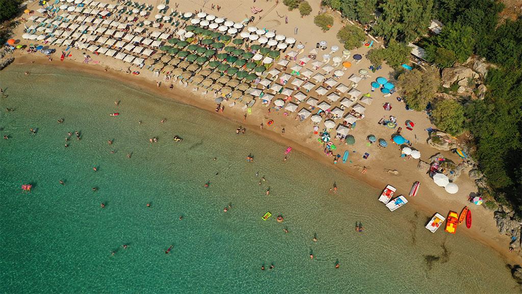 Fitnessurlaub in Griechenland - Fitnessreisen für Reiseathleten - Kalogria Strand von oben