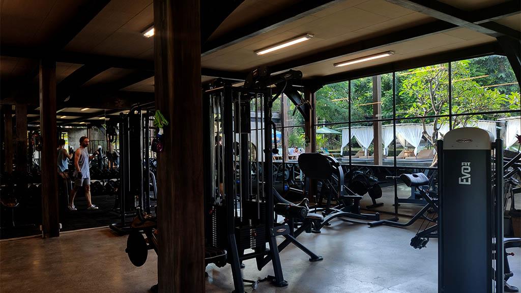 Gym im Titi Batu Club Ubud Bali - Fitnessurlaub Bali - Fitnessreisen für Reiseathleten
