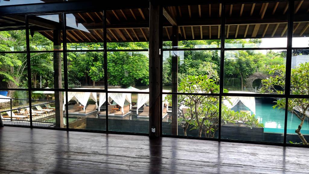 Kursraum im Titi Batu Club Ubud Bali - Fitnessurlaub Bali - Fitnessreisen für Reiseathleten