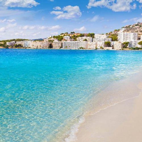 Strand von Santa Ponsa, Mallorca - Fitnessurlaub auf Mallorca - Fitnessurlaub für Reiseathleten