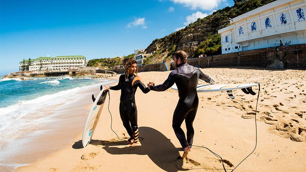 Level 2 Surfkurs - Surfen, Fitness und Yoga in Portugal - Surfcamp in Ericeira, Fitnessreise Portugal - Fitnessurlaub für Reiseathleten